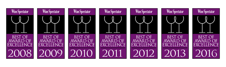 Cache Cache Wine Spectator 2016 Winner July