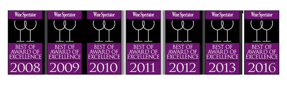 Cache Cache Wine Spectator 2016 Winner July